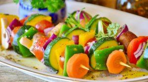 vegetable skewer
