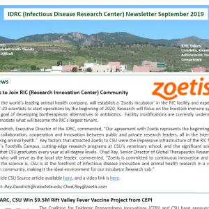 IDRC September Newsletter screenshot