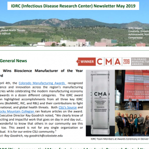 May 2019 IDRC newsletter