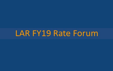 LAR FY19 Rate Forum
