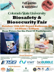 Biosafety & Biosecurity Fair poster