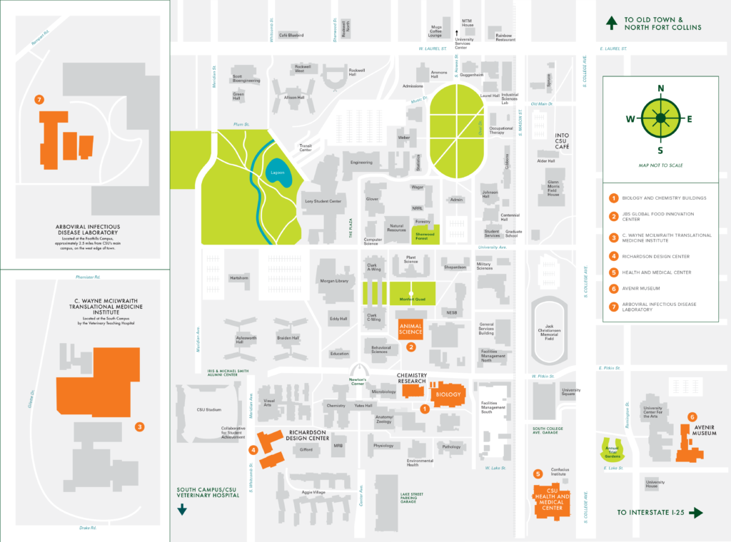 Research Facilities Map