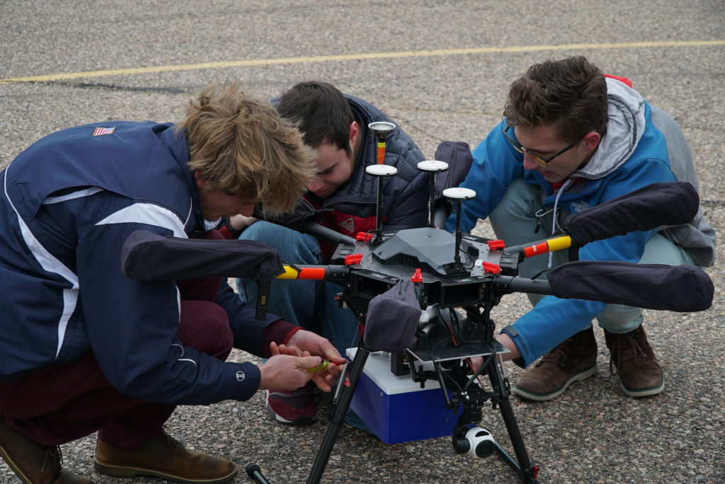 CSU students working on drones