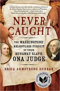 Book cover featuring the face of George Washington and the apron of a maid.